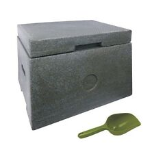 Golf divot box including hand scoop - green granite effect - 35 litre capacity
