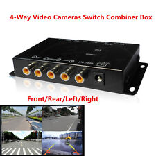 Car 4-Way Video Switch Parking Camera 4 View Image Split-Screen Control Box Kits