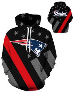 New England Patriots Hoodie Lightweight Small-XXXL 2XL Unisex Men Women Football