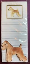 Soft Coated Wheaten Notepad and Wood Magnet