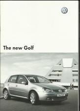VW VOLKSWAGEN GOLF S, SE, GT FSI AND GT TDI SALES BROCHURE FEBRUARY 2004
