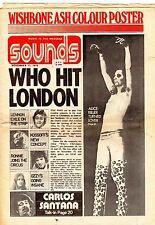 ALICE COOPER THE WHO JOHN LENNON CARLOS SANTANA SOUNDS WISHBONE ASH POSTER 1973