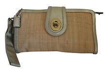 COACH PARKER Straw Clutch Wallet Purse Bag-42474-NICE
