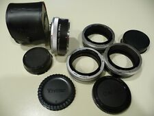MINT - Extension Tube 4 Ring Set for Canon AE1 and VIVITAR 2X Teleconverter