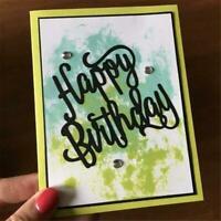1 Pcs*Cutting Stencil Happy Birthday Cutting Dies! W3O9