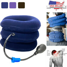US Inflatable Air Pump Cervical Collar Neck Pain Relief Brace Traction Device