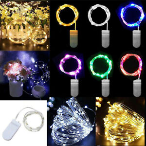 LED Battery Micro Rice Silver Wire Fairy String Lights Wedding Birthday Party UK