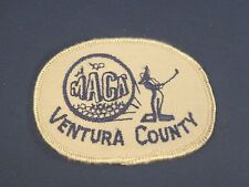 Vintage Maca Ventura County Golf Course in California Sew On Patch