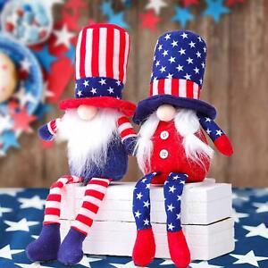 U.S. Independence Day Dwarf Plush Doll Home Desktop Decoration Ornaments Gift