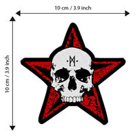 Star Skull Patch Embroidered Patches Music Rock Heavy Metal Concert Official