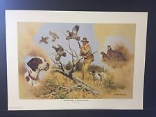 Quail Hunting- An American Tradition By Michael Schreck Artist Proof Print