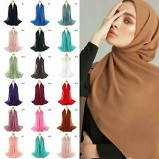 Hidjab Hijab Voile Pour Femme Musulmane 100% Qualité Mousseline De Soie Neuf FR