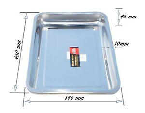 35x45x4,8 cm Rostfreier Stahl Tablett Frühstückstablett Servierplatte