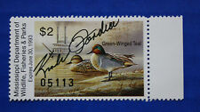 U.S. (MS17Gs) 1992 Mississippi State Governors Ed. Duck Stamp (MNH) Gov. Signed