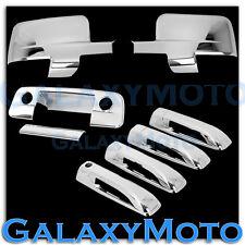 Dodge Ram 1500+2500+3500 Chrome Mirror wLight+4 Door Handle+Tailgate KH+CM Cover