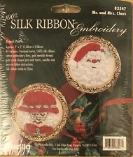 Bucilla 83547 Mr Mrs Claus Brooch Pin Pair Christmas Embroidery Kit Santa