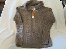 "Ladies ""Sonoma"" Size M, Md Otter (Brown), LS, Open, Squiggle, Cowl Neck Sweater"