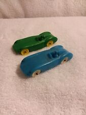 Vintage Auburn Rubber Race Cars- Set Of Two- 4 Inches Long