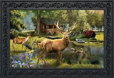 """Great Outdoors Summer Doormat Elk Wildlife Indoor Outdoor 18""""x30"""" Briarwood Lane"""