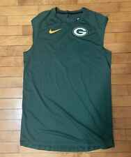 New listing Green Bay Packers NFL Team Issued Player Worn Used Nike Sleeveless Shirt LARGE