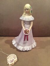 New ListingEnesco Growing Up Birthday Girl Porcelain Figurine 1981-Age 16-Blonde