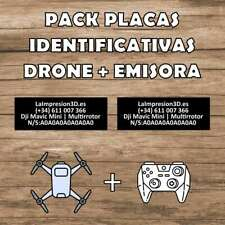 Pack Placas Identificativas drones | Placa Identificativa Drone y Emisora Dron