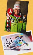Mikaela shiffrin - 2 top autógrafo-imágenes (15) Print copies + ski ak firmado