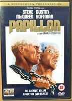 Papillon DVD 1973 Prison Break Película Clásica con / Steve Mcqueen y Dustin