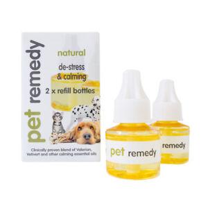 Pet Remedy Calming Refills  2 X 40ml Natural Calming de-stress fireworks Dog Cat