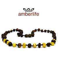 Rare Green Genuine Baltic Amber Adult Necklace-Double Knotted Beads 50 cm