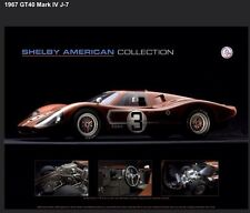 """SAC 1967 Ford GT/40 Mark IV J-7 """"The Andretti Car"""" Out Of Print Car Poster!!!"""