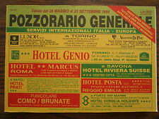 ITALY Train Timetable POZZORARIO Orario dei treni FS 1995 Amtliches Kursbuch
