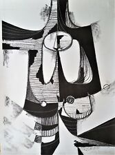 Cuban Art. Lithography by Rolando Lopez Dirube. Untitled,1955. Original signed
