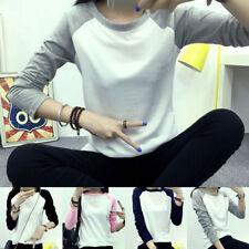 Cotton Blend Long Sleeve Regular Basic T-Shirts for Women