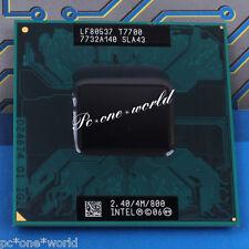 100% OK SLAF7 SLA43 Intel Core 2 Duo T7700 2.4GHz Dual-Core Laptop Processor CPU