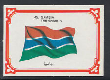 Monty Gum 1980 Flags Cards - Card No 45 - Gambia (T669)