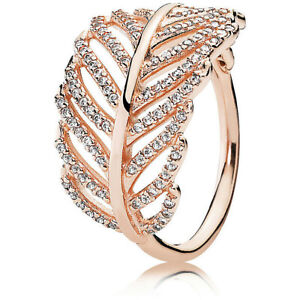 Genuine PANDORA Rose Ring Light as a Feather 180886CZ-50 All Size UK 1st Class