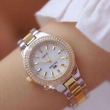 Crystal Watch Women Fashion Rose Gold Quartz Female Stainless Steel Wristwatches