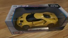 SE Maisto 2017 Ford GT 1:18 Diecast NEW in BOX 1/18 Yellow GT 40 GT40