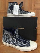RARE🔥 Converse Chuck Taylor CT Premium Hi E Ensign Blue White Sz 9 $120 Woven