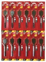 """6 ACE QUICK CHANGE 1-1//2/"""" SPADE PADDLE FLAT WOOD BORING DRILL BITS HEX SHANK"""
