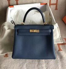 HERMES KELLY TOGO DUCK BLUE 28cm