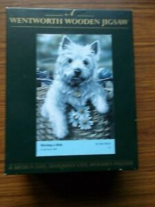 """Wentworth wooden jigsaw puzzle 250 Pieces """"Westie"""" titled, """"Hitching a Ride""""'"""