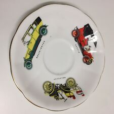Royal Albert Saucer Old Cars Wolseley Austin Rolls-Royce White Collectable