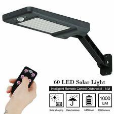 60LED Solar Power PIR Motion Sensor  Wall Lamp Outdoor Street Light Garden