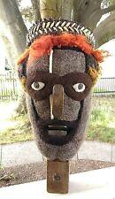 Outsider Art Sculpture Felted Wool Wood Plane Bust Crown Black Lives Matter OOAK