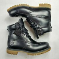 """TIMBERLAND MEN'S  6"""" 6 INCH PREMIUM BROUGE BOOTS BLACK TB0A16XJ size BOOT"""