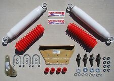 DUAL FRONT STEERING STABILIZER SHOCK KIT 99-04 F250/350 EXCURSION 4x4 LIFT