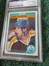 JARI KURRI HAND SIGNED 1982 O-PEE-CHEE CARD PSA ENCAPSULATED