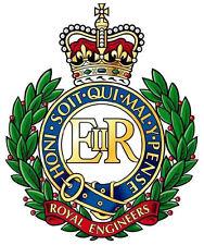 Incorniciato militare britannica stampa Insignia -- Royal Engineers (CAP badge Esercito Art)
